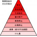 相撲協会の力士の処分の段階